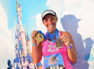 Disneyland Paris Half Marathon Runner with Medal ©Disney