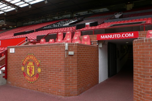 Manchester United team seats