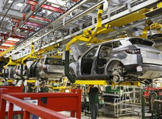The Range Rover Evoque Manufacturing Plant, Halewood