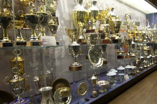 Trophy Cabinet at Manchester United Football Club © Manchester United Football