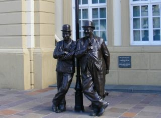 lake district new tour Statue of Laurel and Hardy © Ulverston Ltd