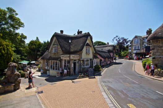 'Pencil cottage' sitting on the corner in Shanklin Old Village, The Isle of Wight © visitisleofwight.co.uk