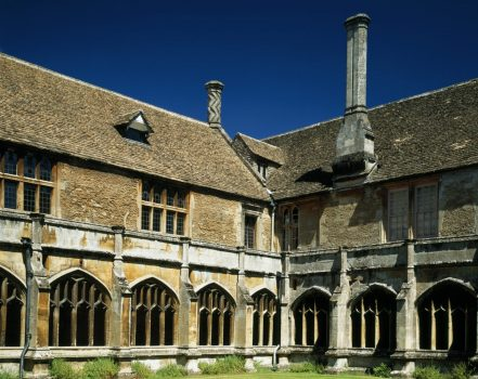 Lacock Abbey cloisters ©National Trust images, Visit Wiltshire