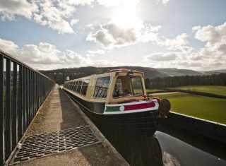 Llangollen Wharf, Wales - The Horse Drawn Boat Centre - TT Aqueduct low down tow path