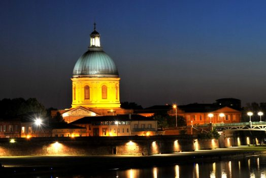 Toulouse, France - La Grave at night