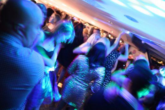 People dancing on New Year's Eve - City Cruises, London ©citycruises.com