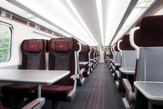 London North Eastern Railway - LNER - Azuma train interior