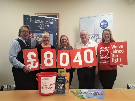 British Heart Foundation Fundraising Reveal - Greatdays Travel Group