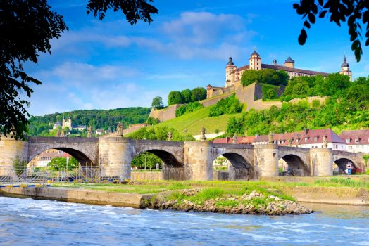 The romantic road Würzburg, Germany - Marienberg Castle overlooking the banks of the river Main © GNTB, Francesco Carovillano