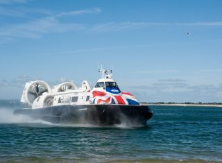 Hover Travel, Portsmouth & Isle of Wight - Hovercraft - Island flyer on water (NCN)