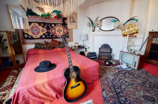 Jimi Hendrix Flat, London - British Music © Michael Bowles