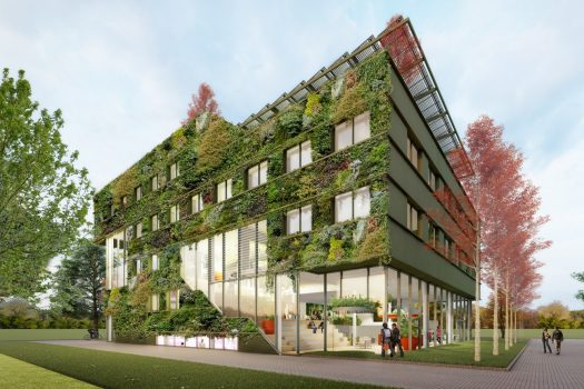 Floriade, Amsterdam, Almere, Netherlands - 5a. Aeres College - Entrance © BDG Architecten