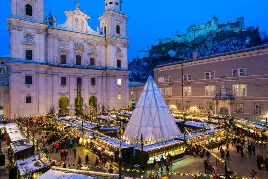 Salzburg, Austria - Christmas Market © Tourismus Salzburg GmbH, Photographer Guenter Breitegger