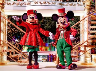 Mickey and Minnie at Disney's Enchanted Christmas