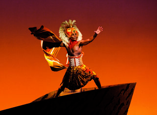 Lion King - Production Shot - Andile Gumbi as 'Simba' Photo by Johan Persson