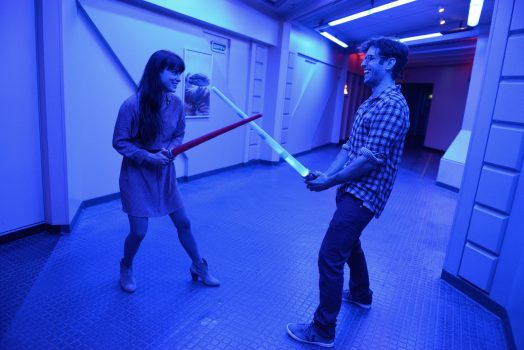 Adults on Star Tours © Disney
