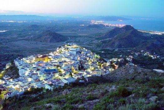 Aerial view of Mojacar, Spain