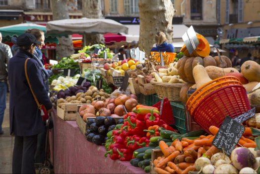 France, Provence, Aix-en-provence, food market, group tour, group travel, © S. Spiteri