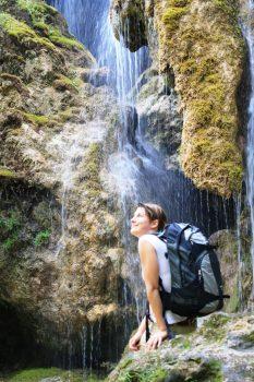Germany, Bavaria, Ammergau Alps, Walking, Hiking, Rambling, Group Travel, waterfalls, schleierfaelle, meditation trail, © Ammergauer Alpen GmbH, Oberammergau Tourismus. Photo Judith Kunz