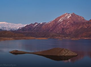 Azat reservoir, group tour to Armenia