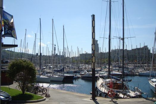 Barcelona fishing port