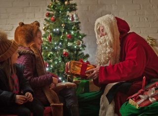 Beamish Open Air Museum, north of England - Meet Father christmas in his cosy fireside grotto