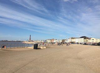 Blackpool boulevard on a sunny day