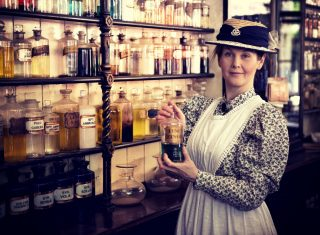 Blists Hill Pharmacy Lady, Shropshire ©Ironbridge Gorge Museums
