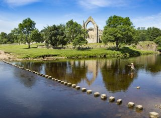 Bolton Abbey, North Yorkshire - Abbey and Rive