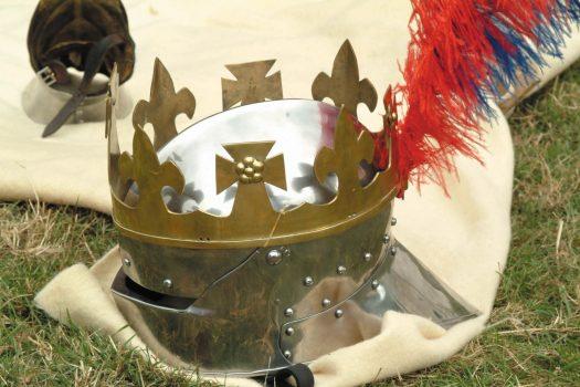 Bosworth Battlefield, Leicestershire - Re-enactment_Knights Helmet
