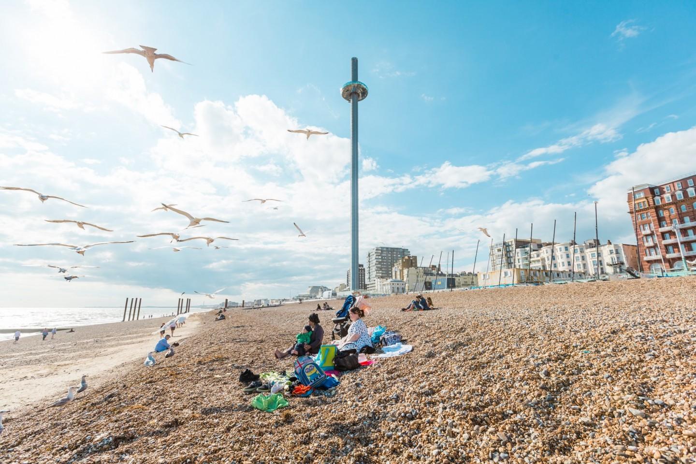 British Airways i360, Brighton - on Brighton beach