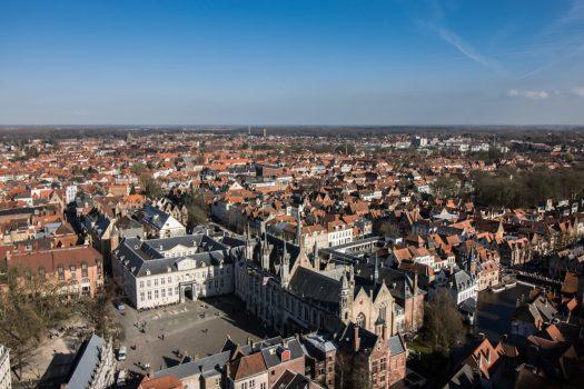 Bruges, Belgium - Aerial view of the city © PT Wilding