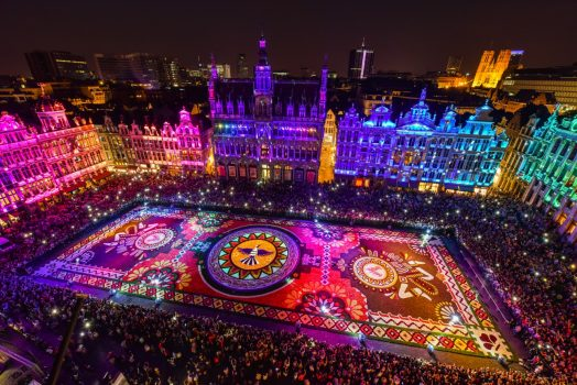 Brussels, Belgium - Flower Carpet - Grand Place © Light design by Studio Artfex, picture by SWD Photography