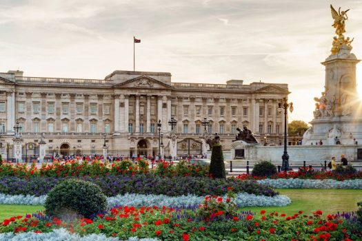 Buckingham Palace, London - The Palace with flower beds in foreground © visitlondon.com, Jon Reid EXPIRES 16.9.2021