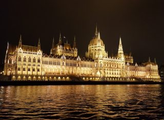 Hungarian Parliament, on the Danube in Budapest