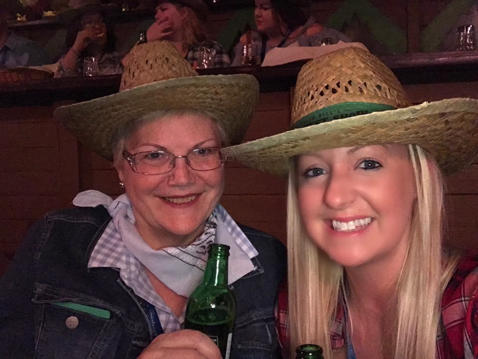 Gina and Megan at Buffalo Bill's Wild West