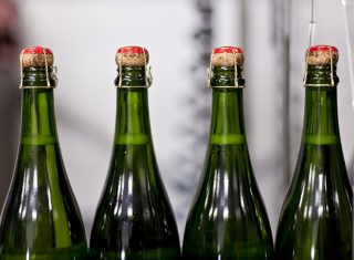 Chapel Down, Kent - Winery - Sparkling Wine Disgorgement