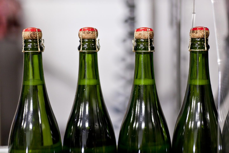 Chapel Down, Kent - Winery - Sparkling Wine Disgorgement
