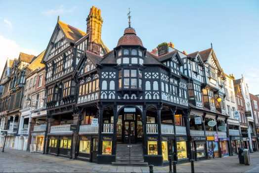 Chester - Black and white architecture (NCN)