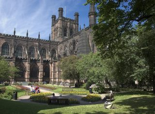 Chester - Cathedral and gardens