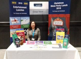 Claire from the Sales Team on the Stand