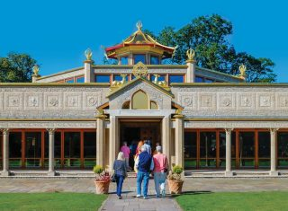 Conishead Priory, Lake District, Cumbria - Buddhist Temple Front View