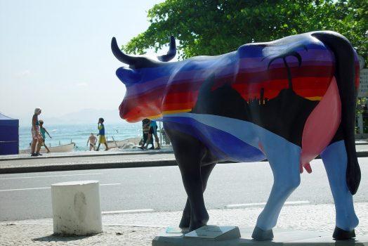 Cow Exhibition at Rio's street , Rio de janiero, Brazil