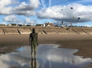 Crosby beach Antony gormley statue - Katharine (NCN)