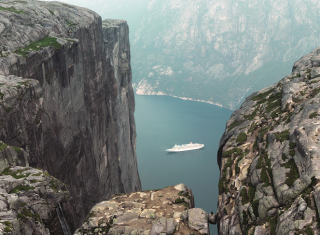 Lysefjord, Pulpit Rock; beautiful Norwegian Fjords Cruise, Norway's Fjords Cruise ©Fred.Olsen Cruise Lines
