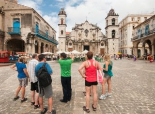 Group Travel to Havana in Cuba are sightseeing