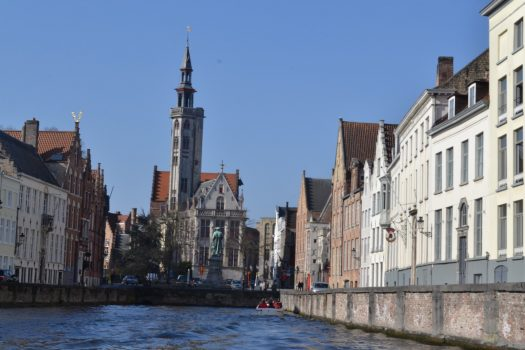 Canal boat trip in Bruges