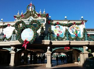 Disney Entrance at Christmas
