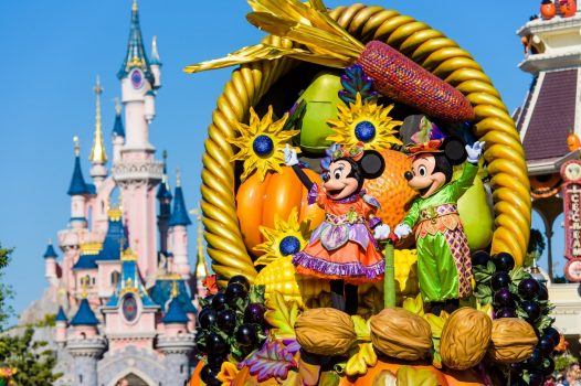 Mickey and Minnie in Disneys Halloween Parade