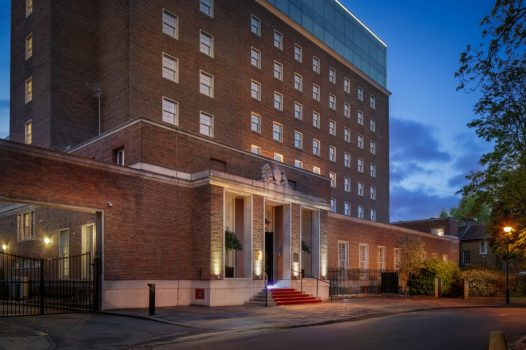 DoubleTree by Hilton London Greenwich, London - Hotel exterior at night